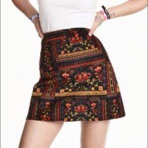 H&M x Coachella Velvet Pattern Miniskirt